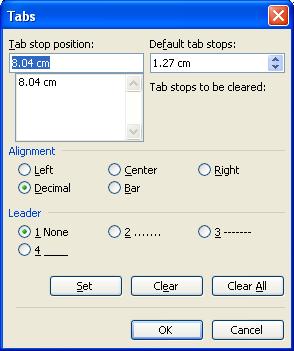 Hướng dẫn Word 2003 cơ bản: đặt Tab, đánh chỉ mục, vẽ đường viền cho văn bản - Phần 6
