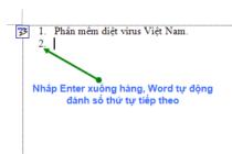 Tắt chức năng đánh số đầu dòng trong Microsoft Word