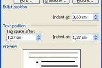 Tạo dấu Bullet bằng bàn phím trong Microsoft Word