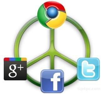 """Hai tiện ích mở rộng từ Chrome giúp """"gộp chung"""" Facebook, G+ và Twitter"""
