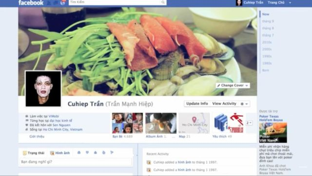 Chuyển sang giao diện Timeline cho Facebook