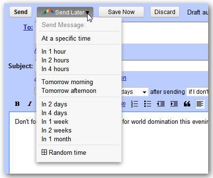 Đặt lịch gửi e-mail tự động với Gmail