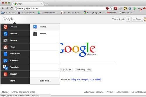Chuyển thanh công cụ Google sang hàng dọc