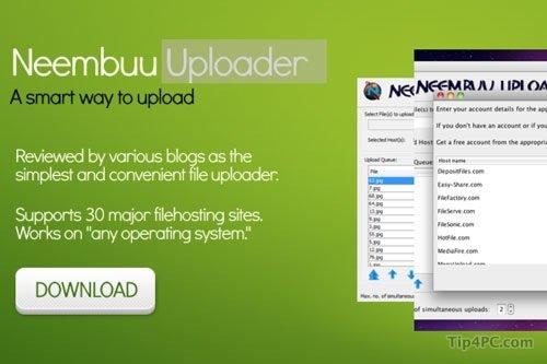 Neembuu Uploader: tải lên 30 dịch vụ lưu trữ chỉ bằng cái nhấp chuột