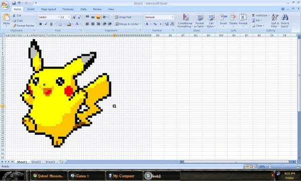 Vẽ hình trên những bảng tính Excel