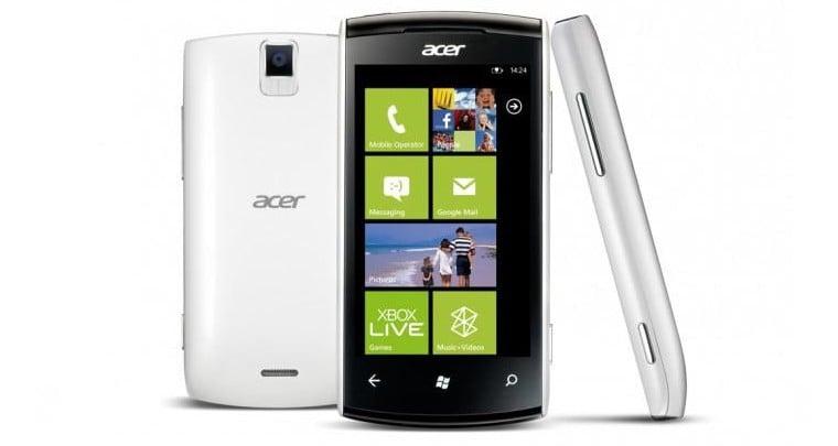 Acer có điện thoại Windows Phone mới vào tháng Ba