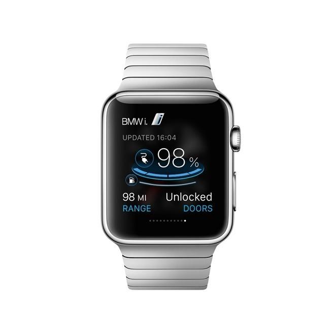 Ứng dụng liên kết BMW với Apple Watch hiển thị những thông tin về tình trạng xe một cách trực quan. Ảnh: Autoevolution.