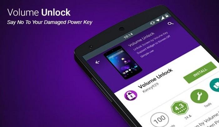 Ứng dụng Volume Unlock giúp thay thế nút nguồn bị liệt