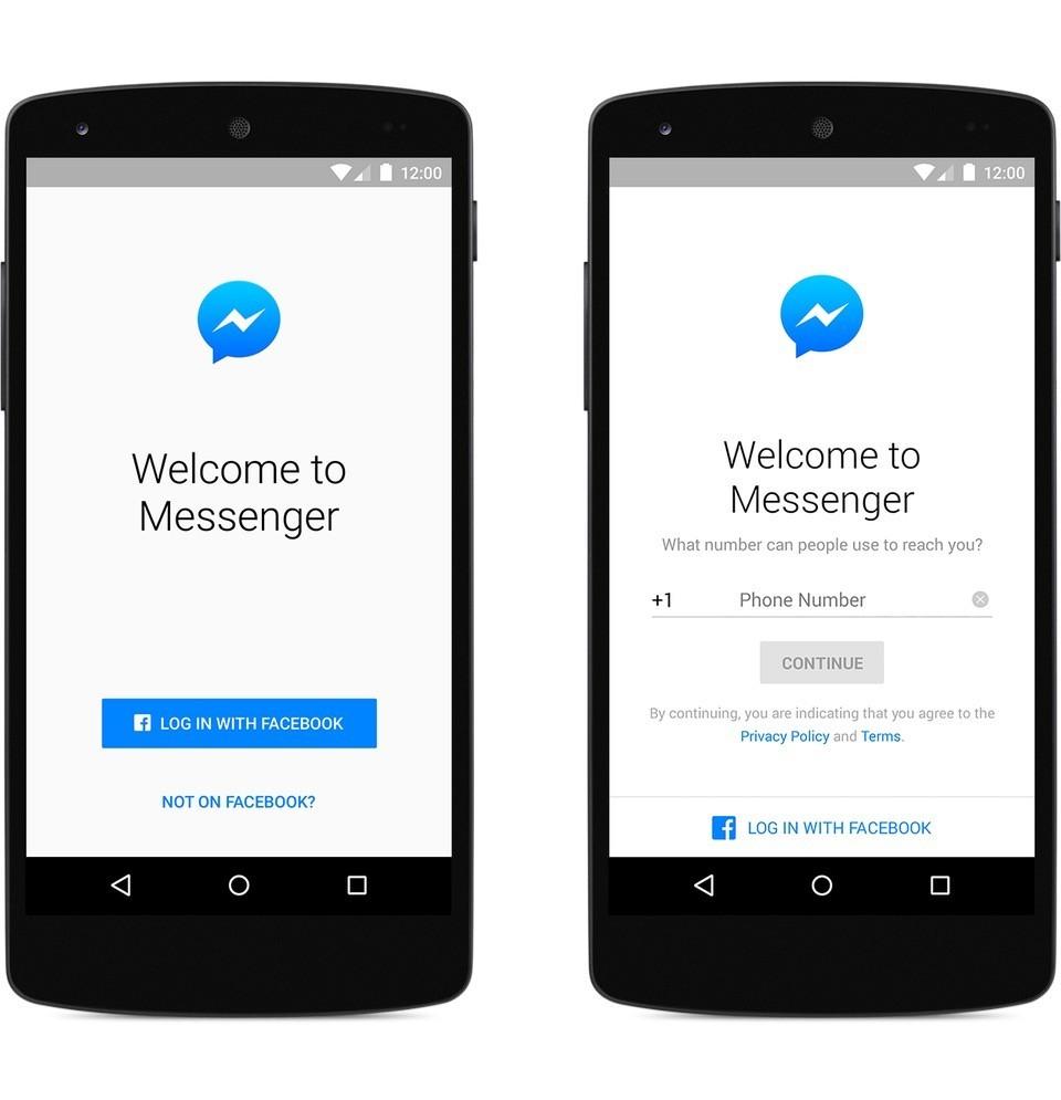 Đăng nhập Messenger không cần tài khoản Facebook