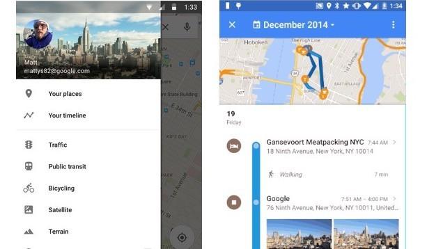 Google Maps có thêm tính năng mới Your Timeline