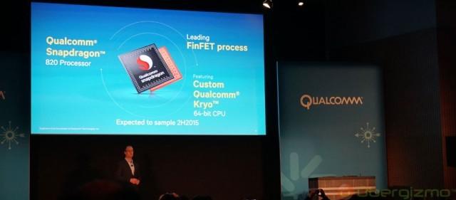 Chip Qualcomm Snapdragon 820 sẽ tăng cường chất lượng ảnh chụp và thời lượng pin cho điện thoại