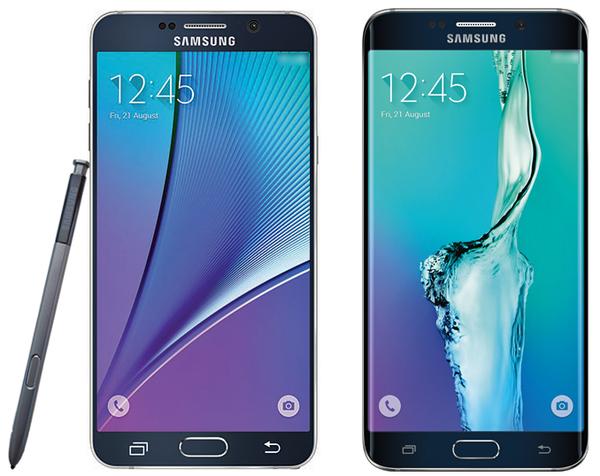 Lộ ảnh chính thức của Galaxy Note 5 và S6 Edge+