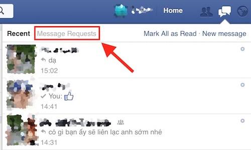Các tin nhắn rác được đưa ra mục Message Requests (Tin nhắn đang chờ).