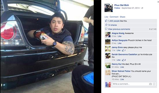 Facebook của anh chàng Phuc Dat Bich nhanh chóng nổi như cồn sau khi lên báo - ảnh: FB