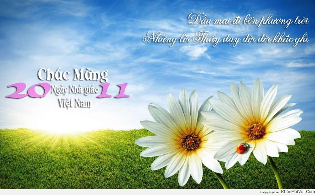 chúc mừng ngày nhà giáo Việt Nam 20-11