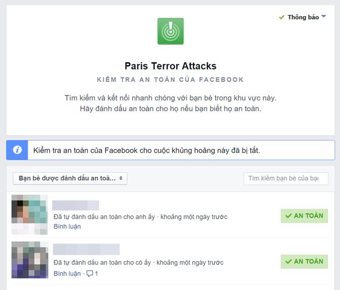 Vì sao tính năng thông báo an toàn trên Facebook chỉ bật với sự kiện tại Paris