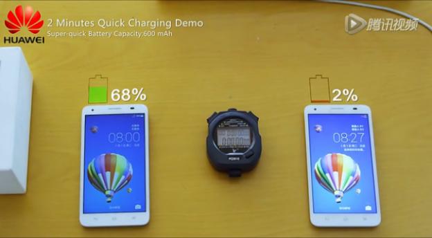 Thử nghiệm công nghệ sạc nhanh mới của Huawei