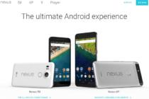 Trang chủ Nexus của Google đã cập nhật Nexus 6P và Nexus 5X