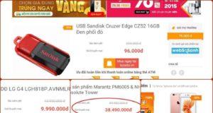 Lazada, HC.com.vn, Sendo...treo giá ảo trong ngày OnlineFriday