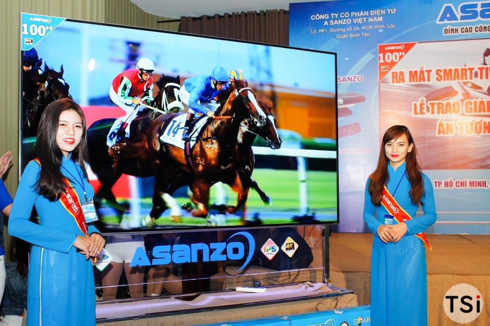 Asanzo ra mắt Smart TV 100 inch 4K sản xuất tại Việt Nam