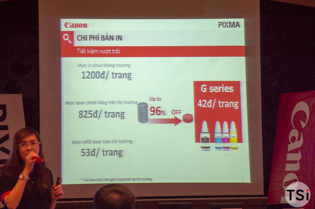 Canon ra mắt dòng máy in phun có hỗ trợ bơm mực chi phí rẻ