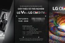 Cập nhật sự kiện ra mắt smartphone LG V10 và LG OLED TV