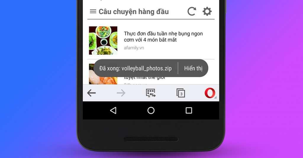 Opera Mini bản Android được cập nhật, chú trọng đến khả năng tải tập tin hơn