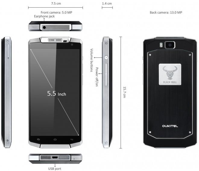 Oukitel K10000: thiết kế nam tính, pin tới 10.000mAh