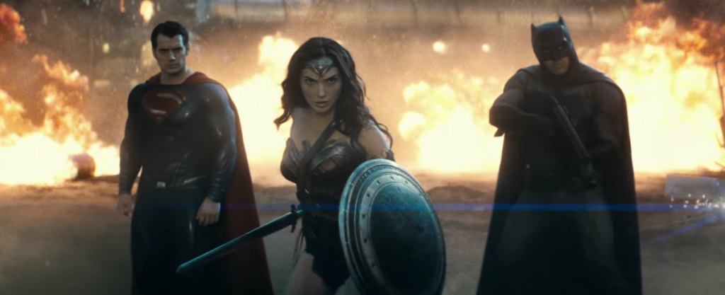 We'll also get our first look at Justice League members Wonder Woman (Gal Gadot), Cyborg (Ray Fisher), Flash (Ezra Miller), and Aquaman (Jason Momoa) as they team up to fight something bigger than themselves.