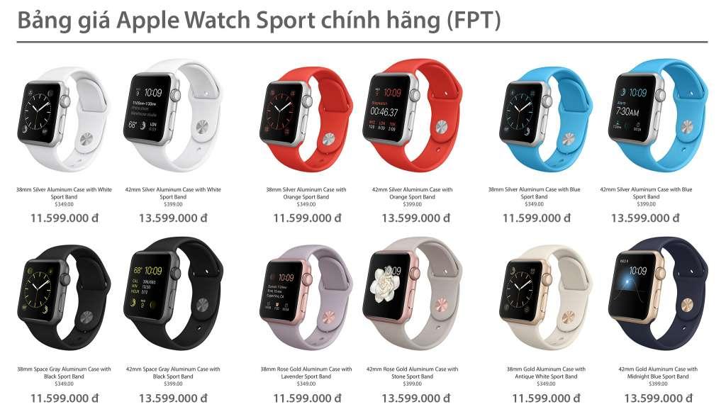 Lộ bảng giá Apple Watch chính hãng từ FPT