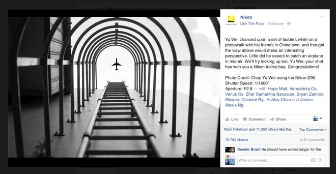 Fanpage Nikon Singapore đăng một bức ảnh bị Photoshop lộ liễu, và cộng đồng mạng đã hào hứng chế lại