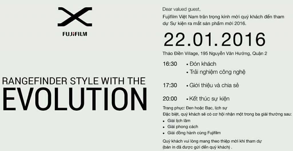 Trực tiếp sự kiện ra mắt sản phẩm mới của Fujifilm