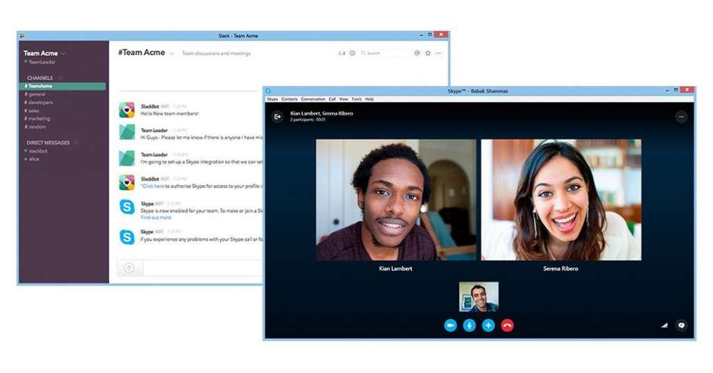 Skype tích hợp vào Slack, ngoài text nhóm thì người dùng đã có thể video call