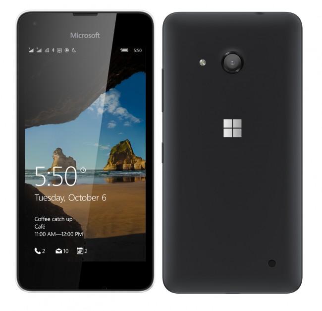 Lumia 550 chính thức: 4,7 inch HD, giá 3 triệu, 2 màu, bộ nhớ 8GB, pin rời 2100mAh