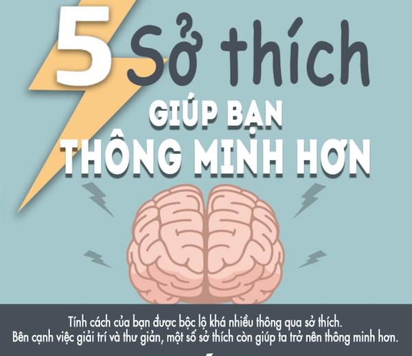 Infographic: 5 sở thích tích cực giúp bạn thông minh hơn