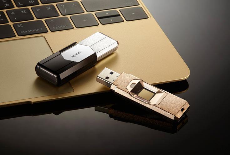 Apacer AH650: Flash Drive USB tích hợp cảm biến vân tay