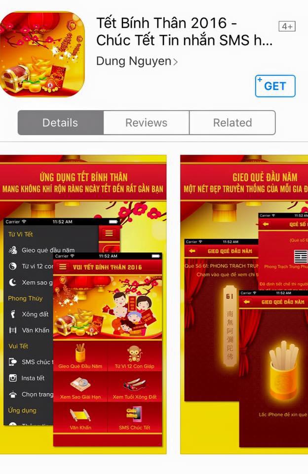 6 ứng dụng chúc Tết ý nghĩa và đặc sắc cho thiết bị iOS