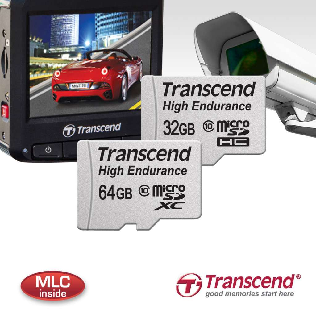 Transcend công bố 2 dòng thẻ nhớ chuyên trị camera hành trình và camera an ninh
