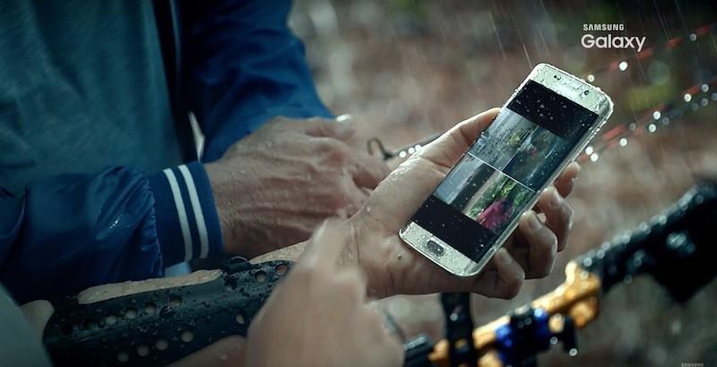 Video quảng cáo Samsung Galaxy S7 kháng nước xuất hiện