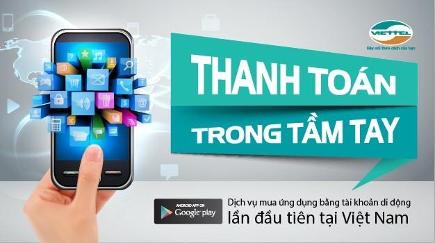 Viettel cho phép mua ứng dụng Google Play bằng tài khoản di động