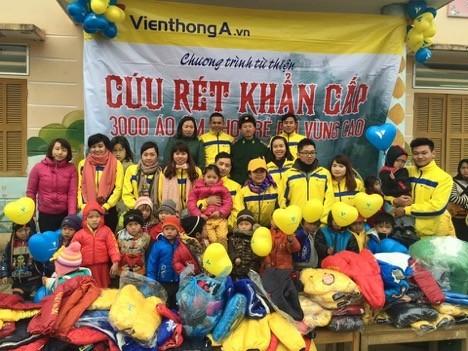 Viễn Thông A trao 3000 áo cứu rét khẩn cấp cho trẻ em vùng cao
