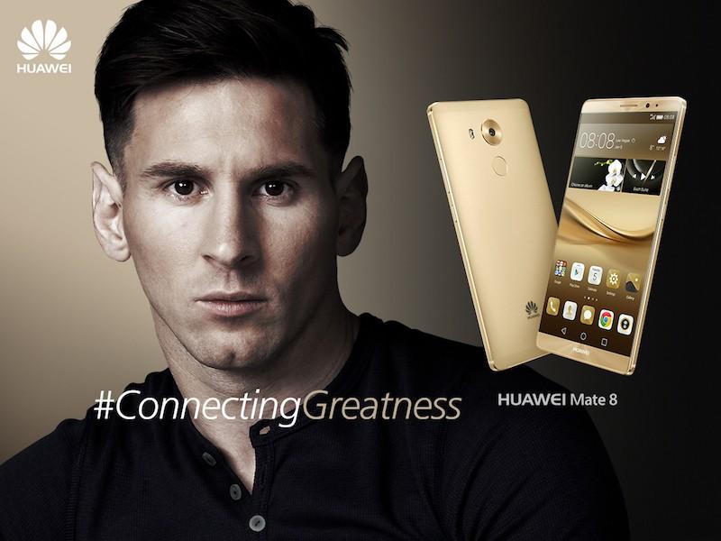 Danh thủ Lionel Messi trở thành đại sứ thương hiệu Huawei toàn cầu năm 2016