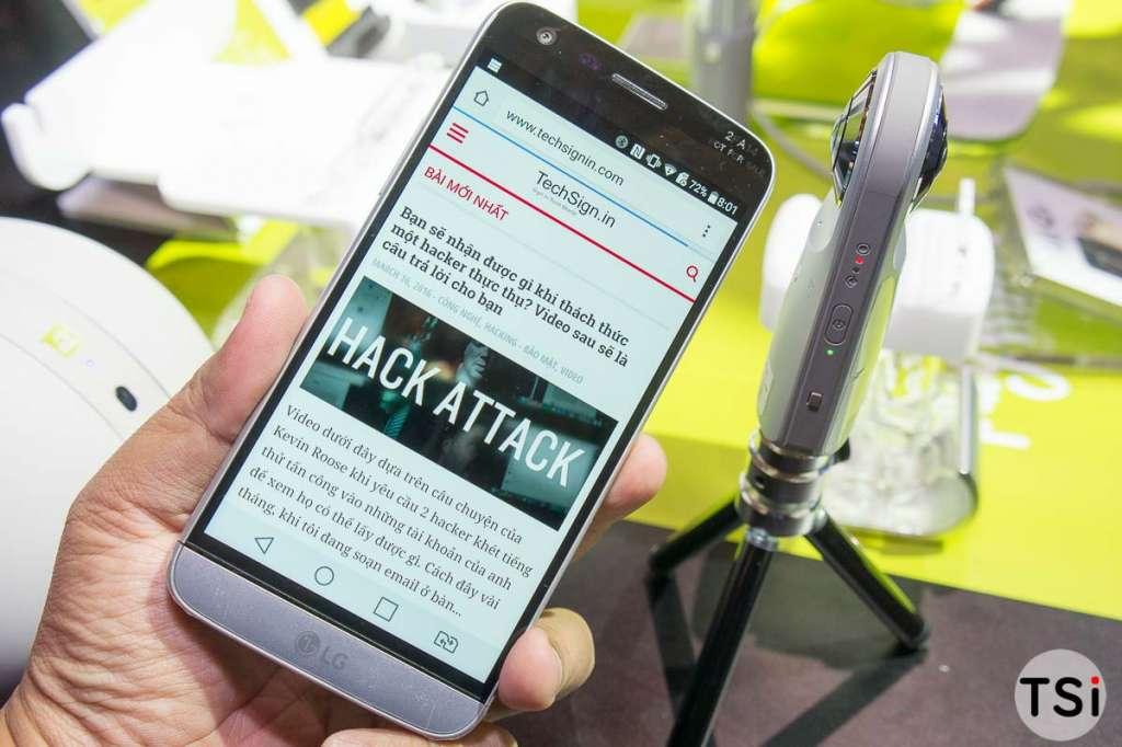 Ảnh thực tế LG G5 được giới thiệu tại LG Techshow 2016