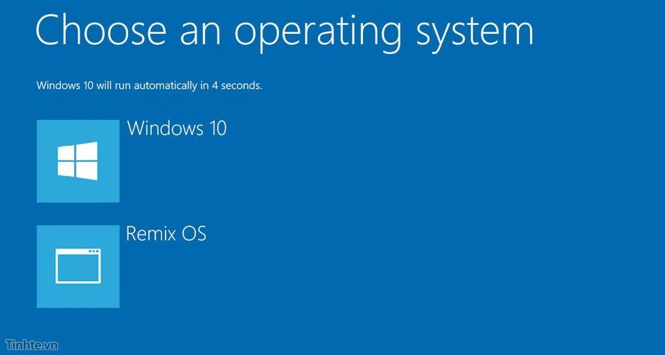 Cách cài Remix OS song song với Windows