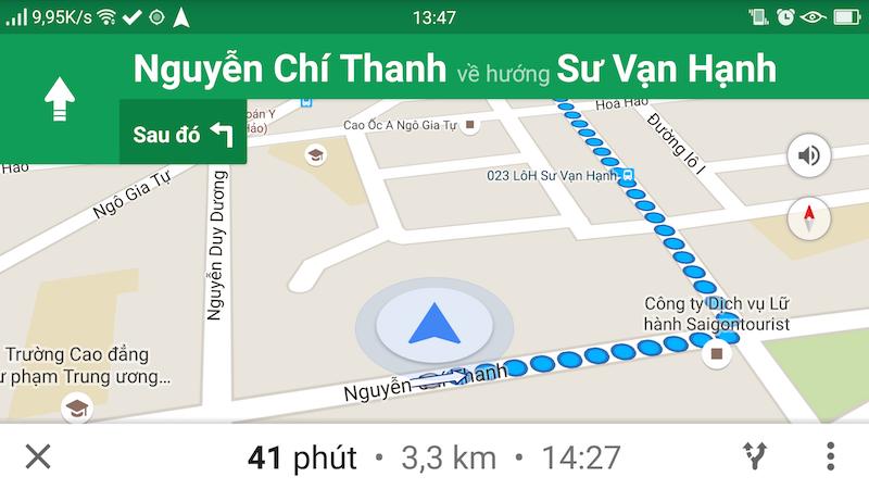 Google Maps mở lại tính năng dẫn đường ở Việt Nam