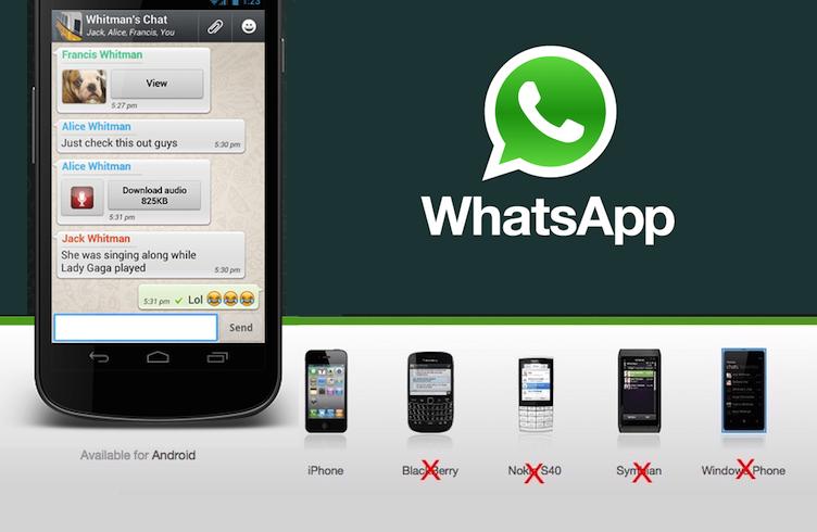 WhatsApp đoạn tuyệt BlackBerry, Nokia và Android phiên bản cũ