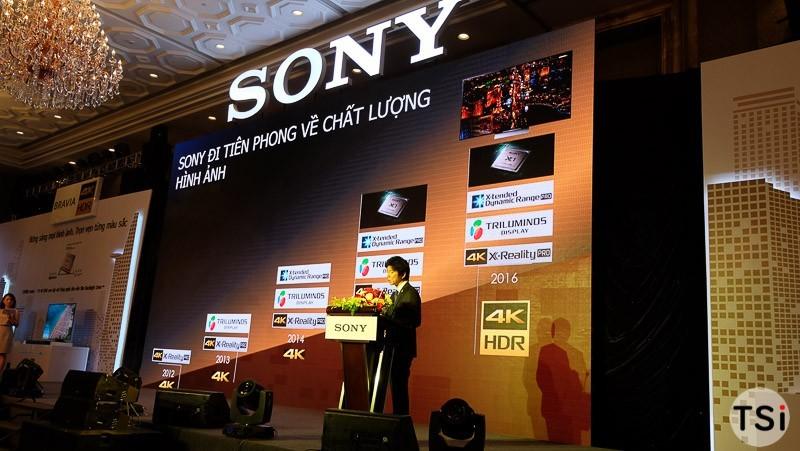 Sony giới thiệu TV Bravia 4K HDR và loa Sound Bar model 2016