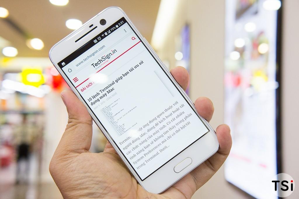 Ảnh thực tế HTC 10 tại Việt Nam: cầm êm tay, màn hình đẹp, camera trước to