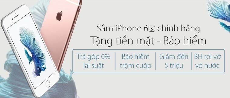 Viễn Thông A giảm 5 triệu cho iPhone 6s và 6s Plus, tùy chọn tặng gói bảo hiểm trộm cướp