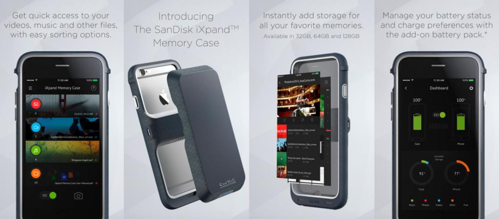 SanDisk tung ốp lưng tăng dung lượng lưu trữ cho iPhone, tối đa 128GB